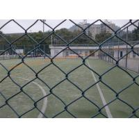 China Durable Green Wire Mesh Fencing Corrosion Resistant , Diamond Shape Metal Chain Link Fence on sale
