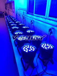 China 18Watt x 18pcs Rgbwauv 6 in 1 Zoom Led Par Dj Light With 15-60 degree Zoom Angle on sale