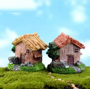 China Mossy micro-landscape decoration furnishings single-storey villas small house model DIY materials on sale