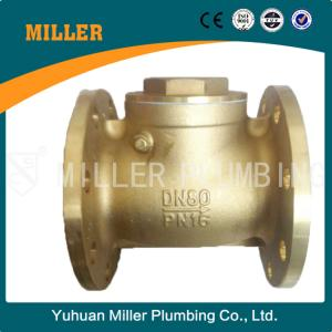China flange type brass check valve made in yuhuan miller plumbing ml-1409 on sale