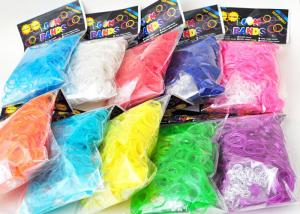 China Family Silicone DIY Colourfull Rainbow Loom Bands Rainbow Colorful Loom Rubber Bands on sale