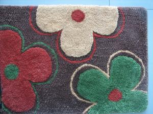China Modern Anti-slip Latex Backing Flower Carpet Door Mat For Bedroom Durable on sale