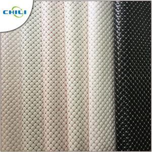China Colorful Vegan Leather Fabric , Stretch Leather Fabric Glossy Resists Mold on sale