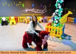 La plus défunte batterie populaire badine la voiture animale électrique de jouet de peluche de vélos en parc d'attractions