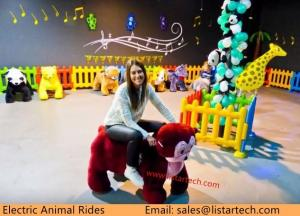 China Latest Popular Battery Kids Bikes Plush Electrical Animal Toy Car in Amusement Park on sale