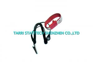 China Allergenic Resistance ESD Grounding Wrist Band / Anti Static Wrist Strap Blue Red on sale