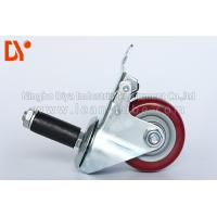 China Pipe Tote Cart Polyurethane Caster Wheels , Anti Static Casters For Logistcs on sale