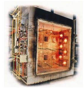 China ISO Flammability Testing Equipment / Large Scale Vertical Fire Resistance Test Furnace on sale