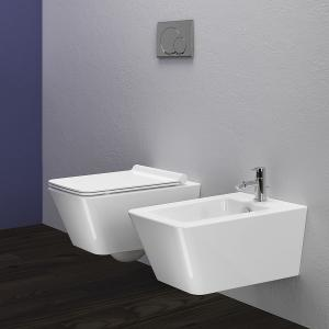 China Toilet WC Wall Hung Bathroom Ceramic White S C Seat Concealed Frame Express ROMA Wall hung toilet on sale
