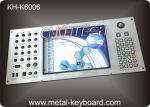 Teclado industrial adaptable del metal construido en 30 botones y Trackball de 19m m