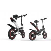 High Speed Lightest Smart Folding Electric Bike Inflated Tire White / Black / Red