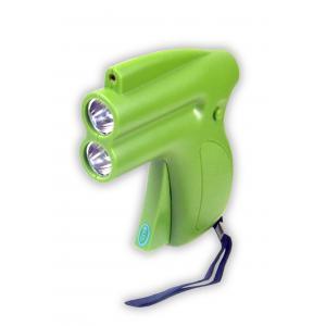 China Gun-shape laser flashlight SP-1069, 2 pieces of φ5 LEDs light, laser function on sale