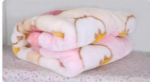 China Breathable Pink Polyester Baby Blanket Lovely 100X140CM With Cartoon Fleece on sale