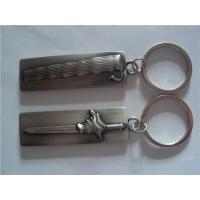 Antique pewter plated bar shape key tag, zinc alloy, vintage metal bar shape key holder,
