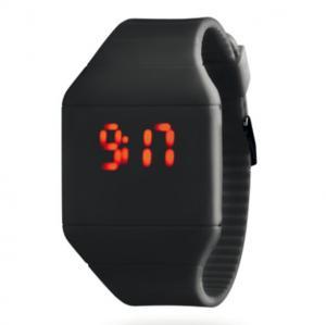 China Unisex  LED Digital Wrist Watch Black For Christmas Gift , Faceless Bracelet LED Watch on sale