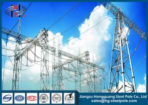 China Hot - Dip Galvanized Safe Substation Steel Structures  For 110KV Transformer Station on sale