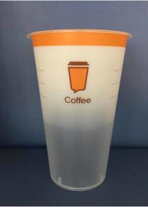 China 16oz In Mould Labeling Clear Disposable Juice Cups / Pp Plastic Cup on sale