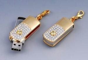 China ODM Design Mini Golden Hi Speed Pendant Jewelry Usb Flash Drive 2GB to 32GB on sale