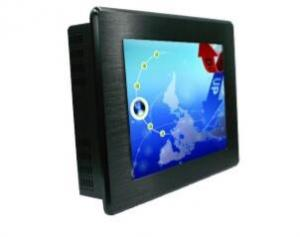 China 20W Fanless Industrial Touch Panel PC 12v 500 Nits Brightness With J1900 2xRJ45 on sale