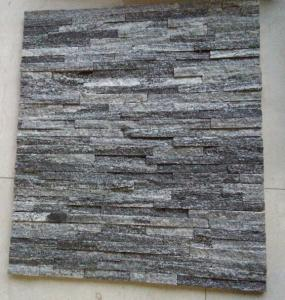 China Cloudy Grey Quartzite Cultured Stone Veneer Gray Quartzite Stacked Stone Cladding on sale