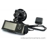 Dual Camera Car GPS Video Recorder 720P Resolution With SD Card Storage