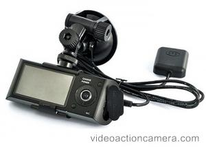 China Dual Camera Dash Cam , Front And Rear Dash Cam With GPS Video Camcorder on sale