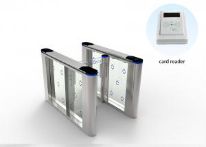 China Half Height Automatic Systems Turnstiles , Acrylic Arm Sliding Security Gates on sale