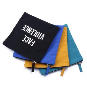 China Canvas Portable Pencil Case Various Styles Cotton Material Letter Pattern on sale
