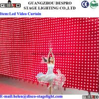 Nightclub DMX LED Star Curtain Rock Music Stage LED Video Curtain 6*4m