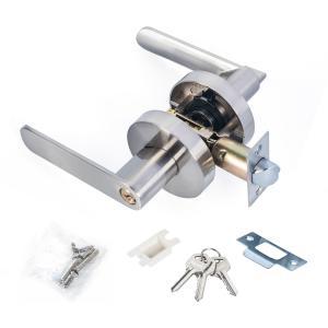 China Satin Nickel Lever Set Lock Living Room Bedroom Bathroom Tubular Door Handle Lock on sale