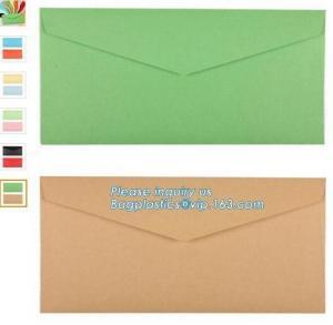 China Wholesale recycle printing colorful gift custom kraft paper envelope packaging,OEM customized mini handmade offset print on sale