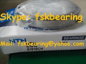 China Thin Wall Deep Groove Ball Bearings NTN 61818 90 × 115 × 13mm Miniature Bearing on sale