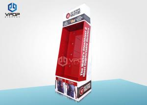 China Holsters Cardboard Hook Display , Eco - Friendly Red Power Wing Display on sale