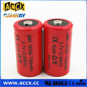 China ICR18350 700mAh 3.7V li-ion battery 18350 for led, cordless phone, home application on sale