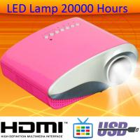 Glossy Panel HDMI MHL Projector Work With Smart Phone LED Lamp 20000 Hours On Sale Beamer