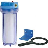 China Clear And Blue Water Filter Parts , Refillable Filter Cartridge Housing on sale