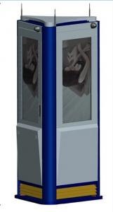China Indoor Outdoor Interactive Information Kiosk 3 Sided with LED Monitor on sale
