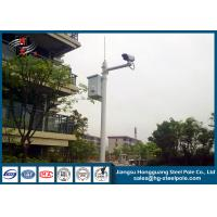 H10m Hot Dip Galvanized CCTV Camera Pole / Surveillance Camera Poles With Painting Craft