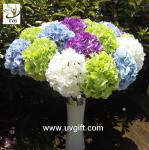 China UVG FHY21 Flower artificial wedding bouquets silk hydrangea for wedding stage decoration wholesale
