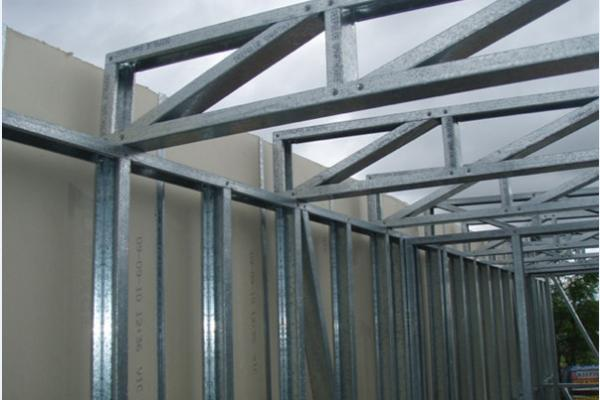 Prefabricated Light Steel Frame Houses / Hurricane Resistant