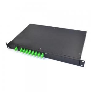China Compact Fiber Optic Splitter 1x8 Rack Mounted 1U 19 Inch Single Mode SC APC Connectors on sale