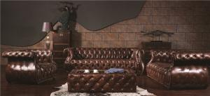 China Mediem Brown Extra Large Soft Leather Sofa Full Handwork Craft 5 Years Guerantee on sale