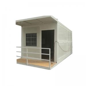 China Sandwich Panel White Prefab Steel Structures Prefabricated Movable Folding Container House on sale