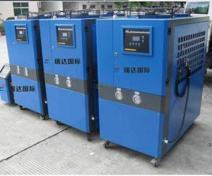 China Stand Alone Water Cooled Industrial Chiller For Plastic Injection Green Color on sale