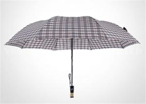 China Fashion Europe Style White 2 Fold Umbrella With Classic Plaid Vogue Check on sale