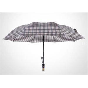 China Fashion Europe Style White 2 Fold Umbrella With Classic Plaid Vogue Check on sale