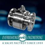 Válvula de bola do revestimento do vapor, válvula de bola de alta pressão da água de aço inoxidável