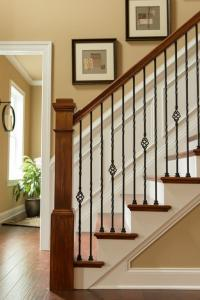 China Wrought iron stair Decorative handrail for home and garden indoor or outdoor usage on sale