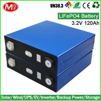 LiFePO4 battery 3.2V 120AH rechargeable lithium ion battery cell for Solar home energy storage