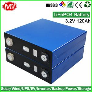China LiFePO4 battery 3.2V 120AH rechargeable lithium ion battery cell for Solar home energy storage on sale